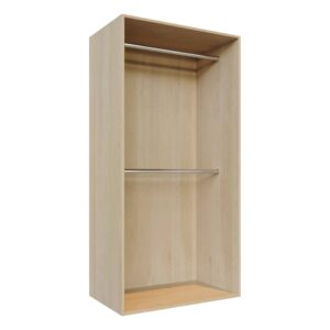 Double hanging space, wardrobe carcass -C1-double-hang-1000x2000-L
