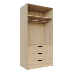 Shelves, hanging rails and internal draws, Wardrobe Doors carcass, fitting components C3-long-hang-draw-1000x2000