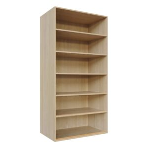 5 large shelves, Wardrobe Doors carcass, fitting components C4-Adj-Shelv-1000x2000-L