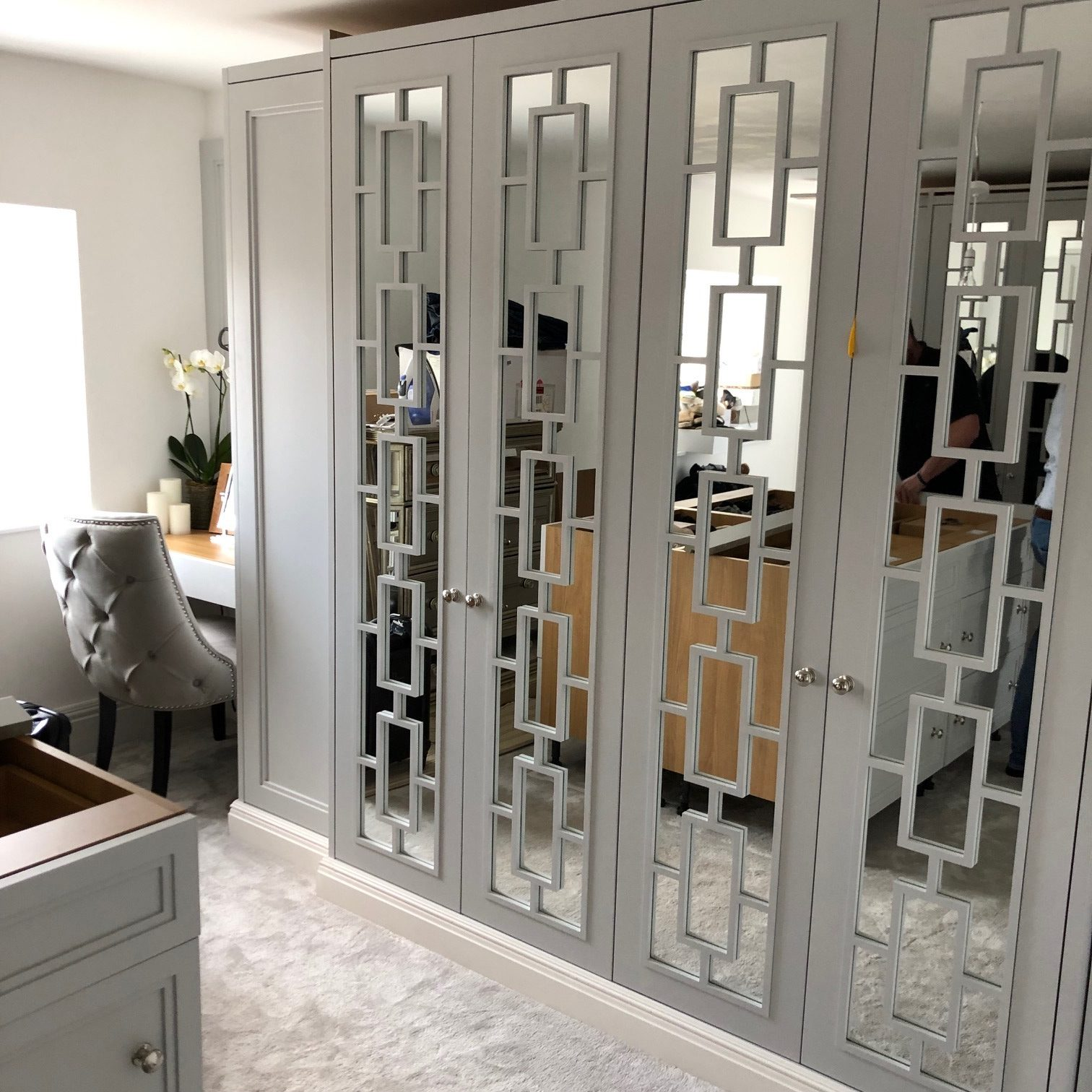 Just Wardrobe Doors design, build and deliver wardrobe doors with Mirrors to any location in the UK