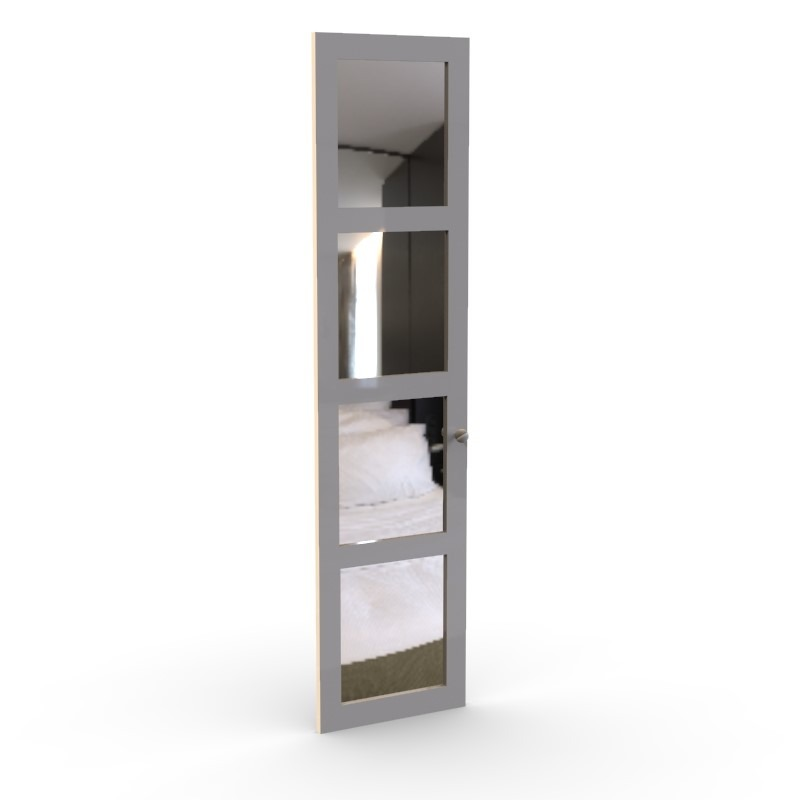 Shaker Mirror Wardrobe Door, 4 panels