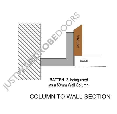 Batten 2 on 80mm wall Column