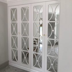 Casino white mirror wardrobe door