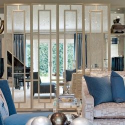 Belgravia mirror wardrobe doors in luxury living room