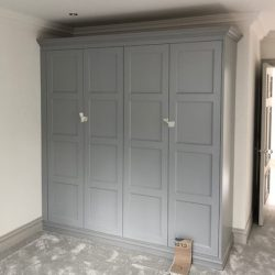 Panelled wardrobe, fitted for client