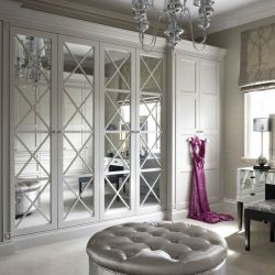 Savoy white mirror with red dress