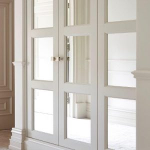 White Montague mirror wardrobe
