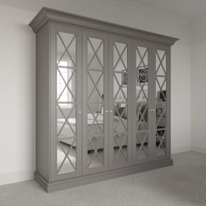 5 door Savoy Wardrobe Pod with mirror. Free standing luxury wardrobe fitting kit.