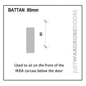 Wardrobe Ikea fitting battan 80mm