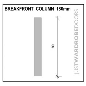 Wardrobe breakfront column 180mm