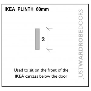 Wardrobe Ikea plinth fitting component