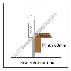 Ikea wardrobe installation option using plinth