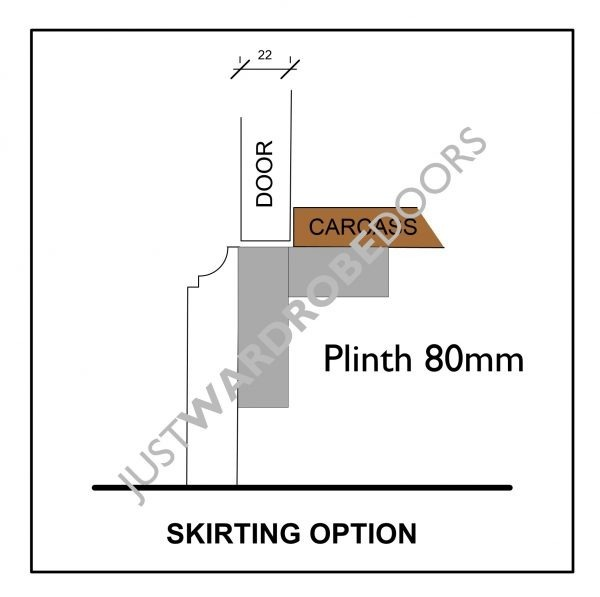 Wardrobe Door skirting option, Luxury fitted wardrobe design