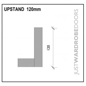 Luxury Wardrobe Upstand fitting component, 120mm