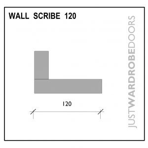 Luxury Wardrobe Wall Scribe Fitting Component 120mm