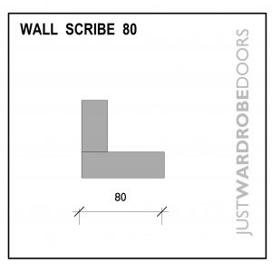 Luxury Wardrobe Wall Scribe Fitting Component 80mm