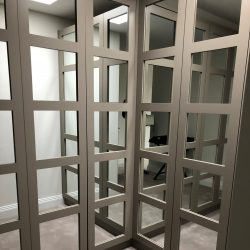 Metro Mirror Walk-in-wardrobe installation