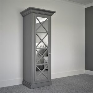 Single door Savoy Mirror freestanding wardrobe