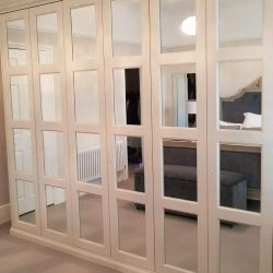 Montague 4 Mirroed Wardrobe Door Design, Pure White Finish